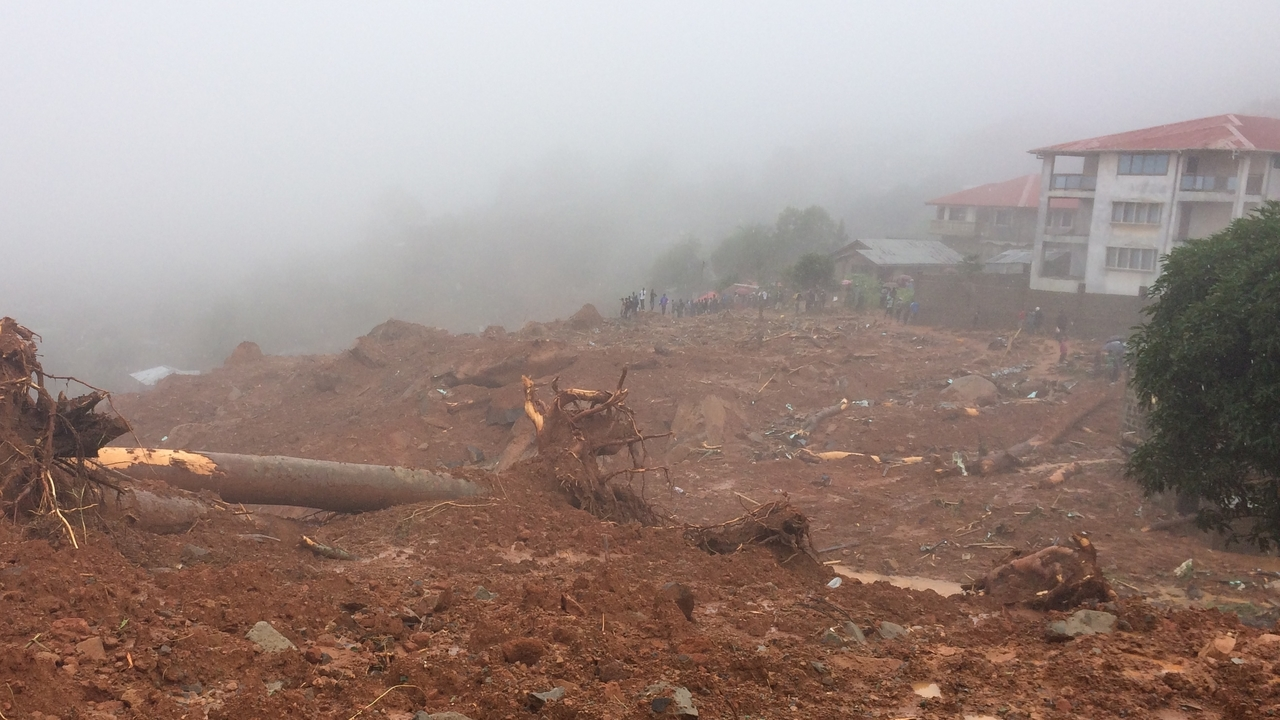 A district of Freetown affected by the mudslides ; }}