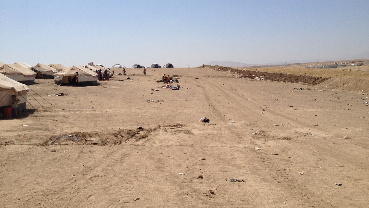 Camp for internally displaced persons in Iraq.; }}
