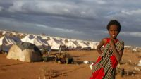 Archive image: Somali refugees in Dadaab camp, Kenya, 2011.A refugee in Dadaab camp, Kenya; }}