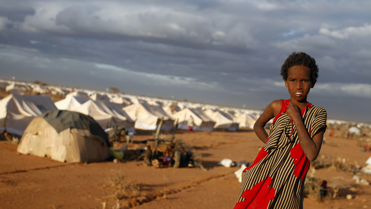 Archive image: Somali refugees in Dadaab camp, Kenya, 2011.A refugee in Dadaab camp, Kenya
