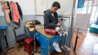Ramesh, 19, lost both his legs in the 2015 Nepal earthquake; }}