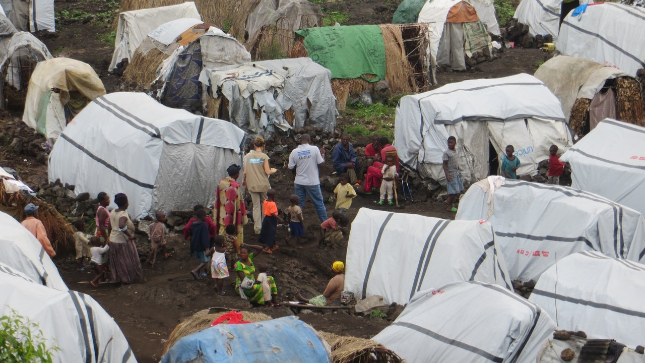 Mugunga Camp for internally displaced people in North Kivu, Democratic Republic of Congo.