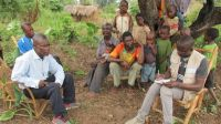 Bakary notes down the circumstances and needs of a displaced family in Kasai.; }}